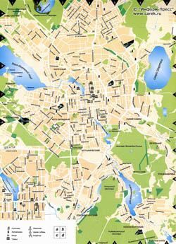 Мобильная карта Екатеринбурга.
