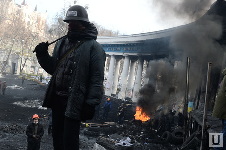 Evropidan. Kiev. Ukraine, riots, Maidan, fighter