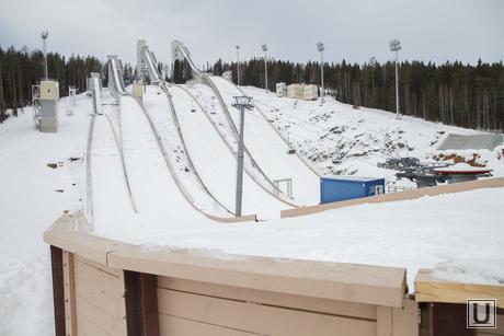 Гора Долгая. Комплекс лыжных трамплинов, трамплин, лыжный трамплин, горнолыжный комплекс