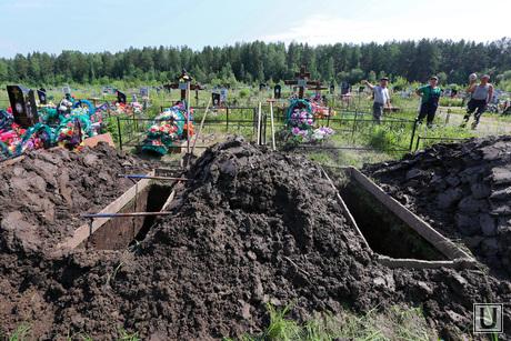 Новая Ляля. Похороны девочек, кладбище, похороны, могила
