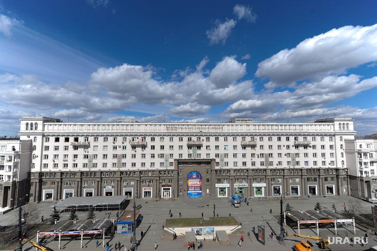 Челябинск сверху, челябинск, пл революции