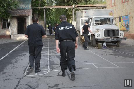 Захваченная военная часть. Луганск. Украина, украинская милиция