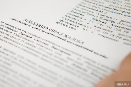 Документ, апелляционная жалоба