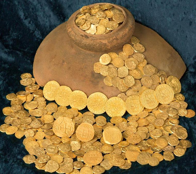 Золото с испанских галеонов