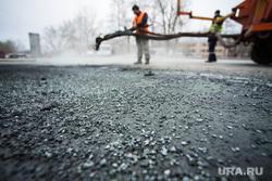Ямочный ремонт на ул. Бычковой. Екатеринбург, дорожные работы